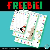 Letter to Santa: Lined Writing Paper