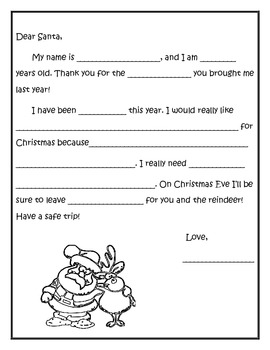 letter to santa template by secondgradeseconds tpt