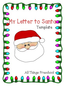 Christmas; Letter to Santa Template