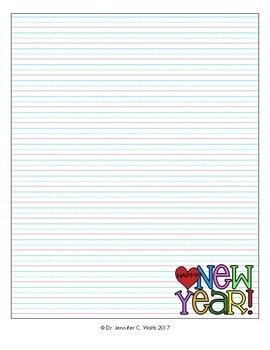 New Year's Resolutions Template