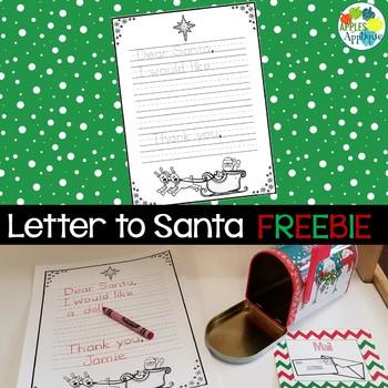 Letter to Santa Template FREEBIE