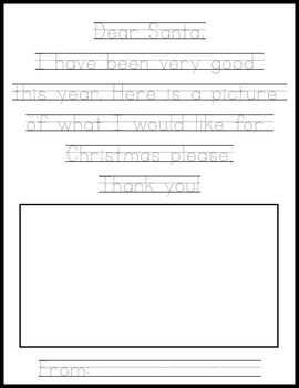 Letter to Santa (Tracing)