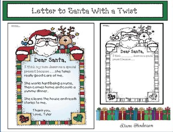 Letter to Santa With a Twist