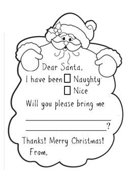 Letter to Santa - Christmas Writing Prompt