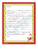 Letter to Santa that also focuses on GIVING!