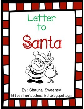 Letter To Santa With All 5 Parts Of A Friendly Letter By Fun