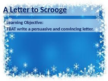 Letter to Scrooge - A Christmas Carol