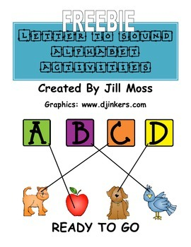 Letter to Sound Alphabet Activities Freebie