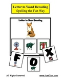 Letter to Word Beginning Sound / Picture Decoding Reading Activity Center - FREE