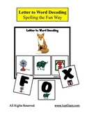 Letter to Word Decoding Strips / Mats - Reading / Spelling