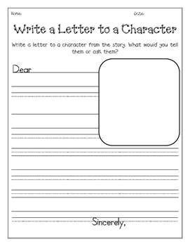 friendly letter to book character