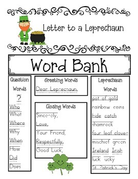 Write a Letter to a Leprechaun