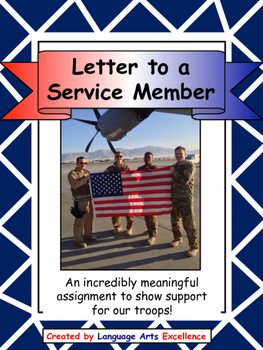 Letter to a Member of our Military - Great for End of Year!