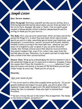 Letter to a Member of our Military