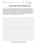 Letter to a Musical Theatre Character