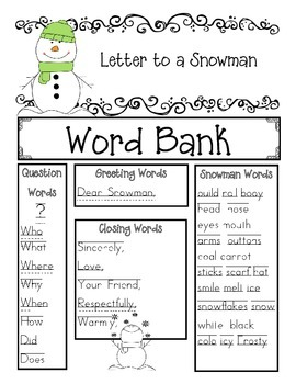 Write a Letter to a Snowman