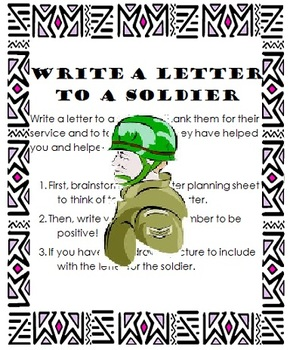 write a letter to a soldier