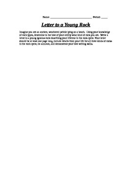 Letter to a young Rock