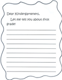 Letter to kindergarteners from first graders