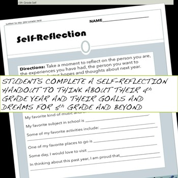 End of year self-reflection activity for 4th graders (includes 2 activities)