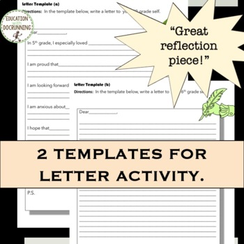 End of Year Self-reflection Activities for 5th grade that Rock!