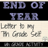 End of Year Activity Self-reflection activities for 6th gr