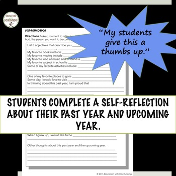 End of Year Self-Reflection Activities for 7th grade that ROCK!
