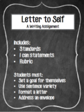 Letter to my Future Self Writing Assignment