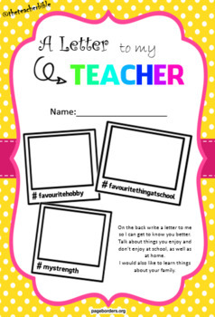 Letter to my Teacher - Student template