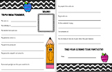 Back to School Letter to new teacher