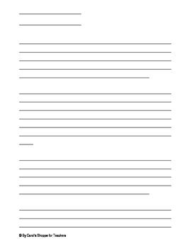 Letter to teacher template