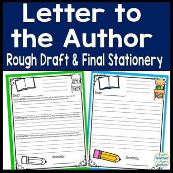 Letter to the Author: Students LOVE to Write a Letter to a Favorite Author!
