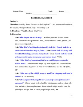 Persuasive Writing-Letter to the Editor