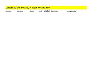 Letter to the Future... MASTER RECORD FILE