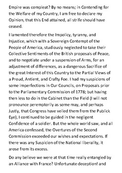 Letter to the Inhabitants of America by Benedict Arnold