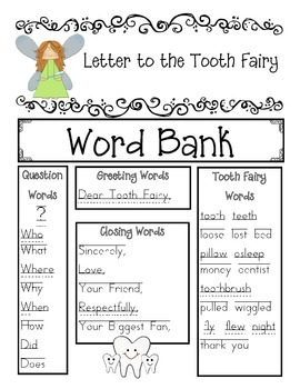Write a Letter to the Tooth Fairy