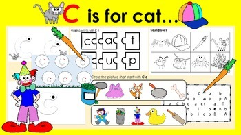 Learning Letter of the Week: C c is for Cat Activities