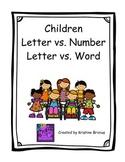 Letter vs. Number and Letter vs. Word Children Theme