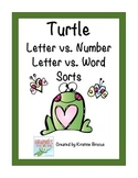 Letter vs. Number and Letter vs. Word Turtle Theme