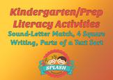 Literacy Activities for Beginning of Kindergarten/Prep (Letters, sounds)