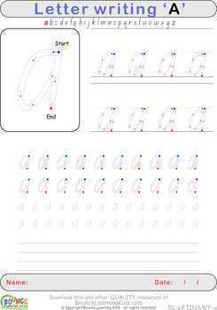 Letter writing (26 Literacy & Hand-eye coordination sheets)