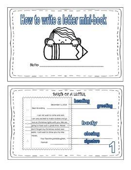 Letter writing Mini-Book ( Friendly letter)