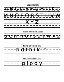Letter writing chart