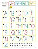 Letter writing tracing self-check! Alphabet strokes upperc