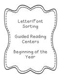 Letter/Font Sort Boards