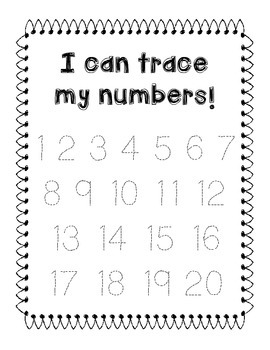 Letter/Number Tracing