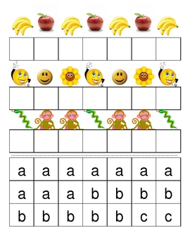 Letter/Picture Patterns