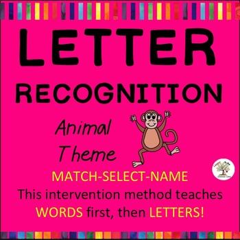 Letter Recognition, Letter Identification: Animals (Down Syndrome, sped)