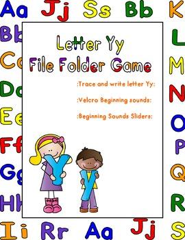 LetterYy File Folder Game