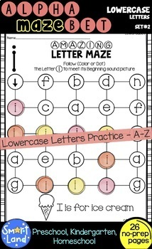 Alphabet practice_ Lowercase Letter Maze
